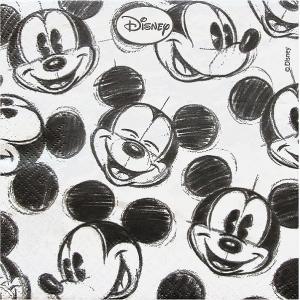2枚1セット ディズニー Disney ミッキーマウス フェイスリピート ペーパーナプキン 紙ナフキン 3枚重ね デコパージュ ドリパージュ|ccpopo