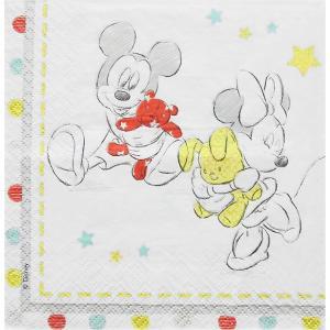 2枚1セット ディズニー Disney  ミッキーマウス ミニーマウス ぬいぐるみ ペーパーナプキン 紙ナフキン デコパージュ ドリパージュ|ccpopo