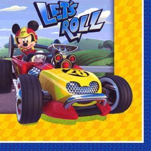 1枚バラ売り25cmペーパーナプキン ミッキーマウス Mickey Mouse ROADSTER Disney アメリカ製 MADE IN USA 紙コースター デコパージュ ドリパージュ 501788 ccpopo