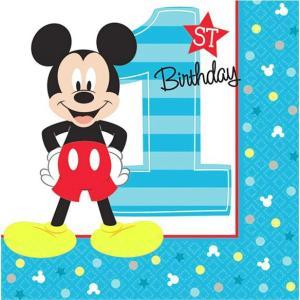 1枚バラ売り25cmペーパーナプキン ミッキーマウス お誕生日 ディズニー Disney アメリカ製 MADE IN USA 2枚重ね 紙コースター デコパージュ ドリパージュ 501833|ccpopo