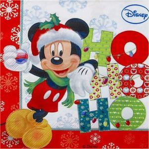1枚バラ売りペーパーナプキン ミッキーマウス クリスマス Mickey Mouse Disney ディズニー 紙ナフキン デコパージュ ドリパージュ|ccpopo