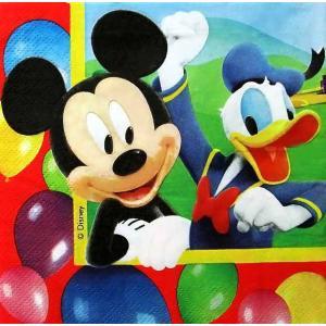 1枚バラ売りペーパーナプキン ミッキーマウス ドナルドダック お誕生日パーティー Disney ディズニー 紙ナフキン デコパージュ ドリパージュ 5201184802427|ccpopo
