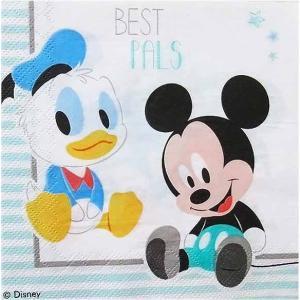 1枚バラ売りペーパーナプキン ベビーミッキー ドナルド ミッキーマウス Mickey Mouse Disney ディズニー 紙ナフキン デコパージュ ドリパージュ|ccpopo