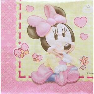1枚バラ売りペーパーナプキン ミニーマウス Minnie Mouse Disney ディズニー 紙ナフキン 2枚重ね デコパージュ ドリパージュ|ccpopo