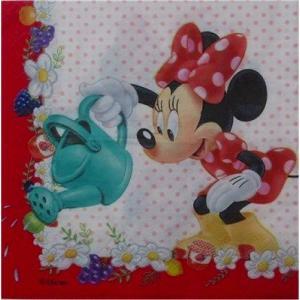 1枚バラ売りペーパーナプキン ミニーマウス お花とフルーツ 7033034  Minnie Mouse Disney ディズニー 紙ナフキン 2枚重ね デコパージュ ドリパージュ|ccpopo