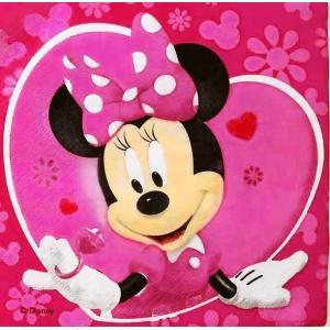 1枚バラ売りペーパーナプキン ミニーマウス Minnie Mouse Disney ディズニー 紙ナフキン デコパージュ ドリパージュ 5201184057360|ccpopo