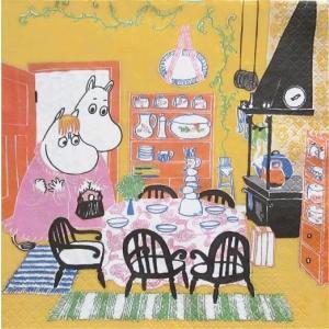 2枚1セット ムーミン キッチン MOOMIN Kitchen スウェーデン製 33cm×33cm バラ売り ペーパーナプキン デコパージュ ドリパージュ|ccpopo