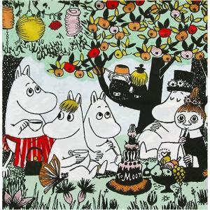 1枚バラ売りペーパーナプキン ムーミン MOOMIN パーティー Partymuumi フィンランド製 北欧 33cm×33cm バラ売り ドリパージュ デコパージュ 02211708|ccpopo