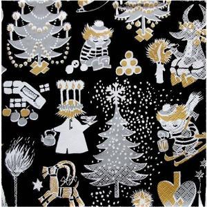 1枚バラ売りペーパーナプキン ムーミン MOOMIN Joulumuumi クリスマス フィンランド製 北欧 33cm×33cm バラ売り ドリパージュ デコパージュ 11101621|ccpopo