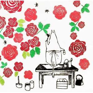 1枚バラ売りペーパーナプキン ムーミン 薔薇 フラワー RUUSU-MUUMI 33cm×33cm バラ売り デコパージュ ドリパージュ 12191715 北欧|ccpopo