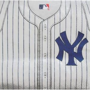 2枚1セット ニューヨーク ヤンキース NEW YORK YANKEES 野球 MLB 大リーグ アメリカ MADE IN USA ペーパーナプキン 紙ナフキン 2枚重ね|ccpopo