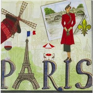 1枚バラ売りペーパーナプキン nouveau オーストリア パリ Paris 74451 デコパージュ ドリパージュ|ccpopo