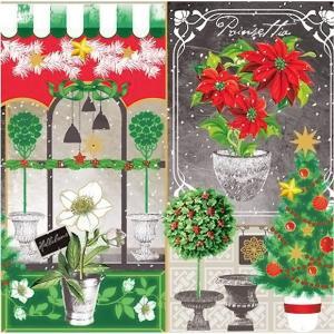 1枚バラ売りペーパーナプキン nouveau オーストリア Xmas Collage クリスマスコラージュ 75063 デコパージュ ドリパージュ|ccpopo