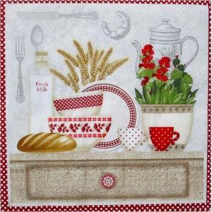 1枚バラ売りペーパーナプキン nouveau オーストリア キッチン In the Kitchen 75129 デコパージュ ドリパージュ|ccpopo