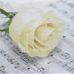 nouveau オーストリア ペーパーナプキン クラシックローズ Classic Rose 74031 バラ売り2枚1セット デコパージュ ドリパージュ|ccpopo
