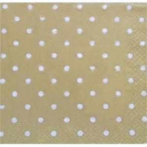nouveau オーストリア ペーパーナプキン ハートアンドドット ゴールド Hearts&Dots gold 74241 バラ売り2枚1セット デコパージュ ドリパージュ|ccpopo