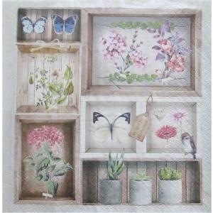 nouveau オーストリア ペーパーナプキン Herbarium 74989 バラ売り2枚1セット デコパージュ ドリパージュ|ccpopo