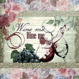 nouveau オーストリア ペーパーナプキン ワインが誘う高貴な食事会 Wine me Dine me 75117 バラ売り2枚1セット デコパージュ ドリパージュ|ccpopo