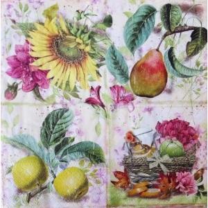 nouveau オーストリア ペーパーナプキン 秋の果実 Soleil d´Automne 75171 バラ売り2枚1セット デコパージュ ドリパージュ|ccpopo