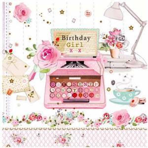 nouveau オーストリア ペーパーナプキン バースデーレター お誕生日 Birthday Letter 75295 バラ売り2枚1セット デコパージュ ドリパージュ|ccpopo
