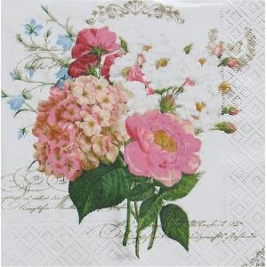 イタリア NUOVA R2S社ペーパーナプキン フラワーブーケット Flowers Bouquet バラ売り2枚1セット 414-FBQ デコパージュ ドリパージュ|ccpopo