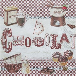 イタリア Easy Life 旧NUOVA R2S社 ペーパーナプキン Lunch napkins とろけるようなチョコレート バラ売り2枚1セット 414-FOND デコパージュ ドリパージュ|ccpopo