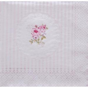 イタリア Easy Life 旧NUOVA R2S社 ペーパーナプキン Lunch napkins 美しいバラ Belle Maison Rose バラ売り2枚1セット 414-RSE デコパージュ ドリパージュ|ccpopo