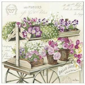 イタリア NUOVA R2S社ペーパーナプキン 花 Les Fleurs バラ売り2枚1セット L-414-FLER デコパージュ ドリパージュ|ccpopo