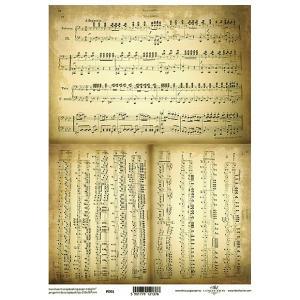 ポーランド ITD Collection スクラップブッキング用ヴェラム紙 半透明 1枚 A4 厚手 曲げ加工可能 作品販売可能 112g/m2 P0001 楽譜 音符 音楽|ccpopo