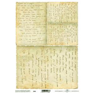 ポーランド ITD Collection スクラップブッキング用ヴェラム紙 半透明 1枚 A4 厚手 曲げ加工可能 作品販売可能 112g/m2 P0002 古い手書きの手紙|ccpopo