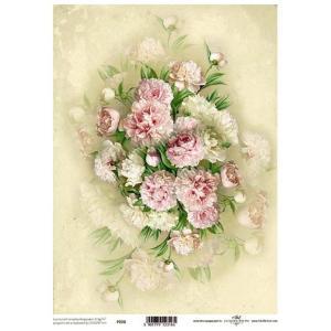 ポーランド ITD Collection スクラップブッキング用ヴェラム紙 半透明 1枚 A4 厚手 曲げ加工可能 作品販売可能 112g/m2 P0020 牡丹の花束|ccpopo