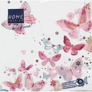 新品未開封1パック20枚 33cm Home Fashion ドイツ ペーパーナプキン Lovely Butterflies 211413|ccpopo