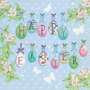 1枚バラ売りペーパーナプキン Paper+Design ドイツ ハッピーイースターエッグ Happy Easter eggs 200405 デコパージュ ドリパージュ|ccpopo