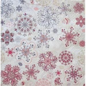 1枚バラ売りペーパーナプキン Paper+Design ドイツ Tender snowflakes 雪の結晶 600032 デコパージュ ドリパージュ|ccpopo
