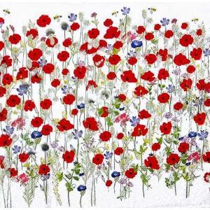 1枚バラ売りペーパーナプキン Paper+Design ドイツ Artablo ハーモニーポピー Harmony poppies AT004 デコパージュ ドリパージュ|ccpopo