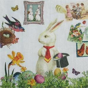 paper+Design ドイツ ペーパーナプキン Magic Easter rabbit バラ売り2枚1セット L-200002 デコパージュ ドリパージュ|ccpopo