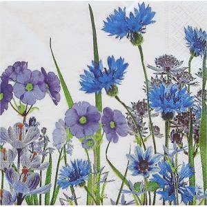 Paper+Design ドイツ ペーパーナプキン Blue meadow バラ売り2枚1セット L-200030 デコパージュ ドリパージュ|ccpopo