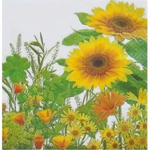 Paper+Design ドイツ ペーパーナプキン 輝かしいひまわりの咲く牧草地 Yellow meadow バラ売り2枚1セット L-200031 デコパージュ ドリパージュ|ccpopo