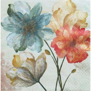 Paper+Design ドイツ ペーパーナプキン Portrait of flowers バラ売り2枚1セット L-200086 デコパージュ ドリパージュ|ccpopo