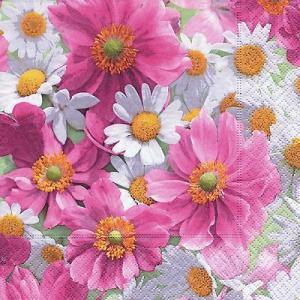 Paper+Design ドイツ ペーパーナプキン Lunch napkins Blossom carpet バラ売り2枚1セット L-200142 デコパージュ