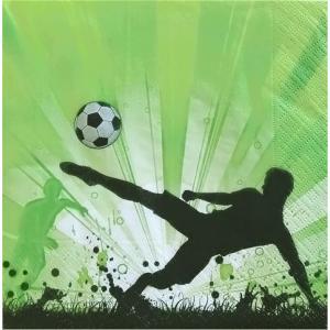 Paper+Design ドイツ ペーパーナプキン サッカー Soccer mania バラ売り2枚1セット L-200204 デコパージュ ドリパージュ|ccpopo