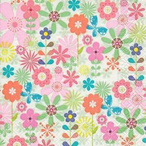 Paper+Design ドイツ ペーパーナプキン Simple flowers バラ売り2枚1セット L-200247 デコパージュ ドリパージュ|ccpopo