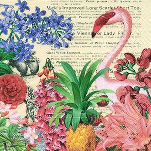 Paper+Design ドイツ ペーパーナプキン トロピカルガーデン Tropical garden バラ売り2枚1セット L-200253 デコパージュ ドリパージュ|ccpopo