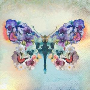 Paper+Design ドイツ ペーパーナプキン エレガントに舞う蝶 Le papillon fabuleux バラ売り2枚1セット L-200288 デコパージュ ドリパージュ|ccpopo