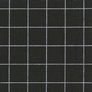 ドイツ製ペーパーナプキン Home square black バラ売り2枚1セット L-200171 デコパージュ ドリパージュ|ccpopo