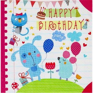 Paper+Design ドイツ ペーパーナプキン 子供たちのお誕生日パーティー Childs birthday バラ売り2枚1セット L-200454 デコパージュ ドリパージュ ccpopo