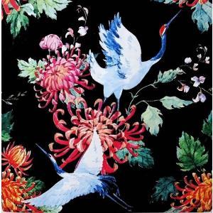 Paper+Design ドイツ ペーパーナプキン ツル 鶴 Japanese cranes バラ売り2枚1セット L-200620 デコパージュ ドリパージュ|ccpopo