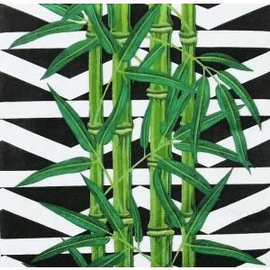 Paper+Design ドイツ ペーパーナプキン 竹 笹の葉 お正月 和柄 Bamboo leaves バラ売り2枚1セット L-200625 デコパージュ ドリパージュ|ccpopo