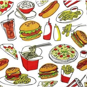 Paper+Design ドイツ ペーパーナプキン ファーストフード Fast food バラ売り2枚1セット L-200634 デコパージュ ドリパージュ|ccpopo