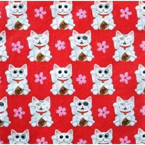Paper+Design ドイツ ペーパーナプキン 招き猫 縁起物 お正月 Maneki-neko バラ売り2枚1セット L-200668 デコパージュ ドリパージュ|ccpopo